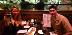 Couple enjoying dinner at Jimmy's Charhouse in Libertyville