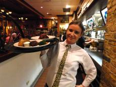 Friendly server at Jimmy's Charhouse in Libertyville