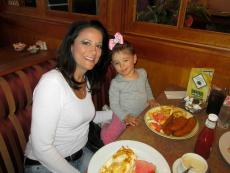 Mom and daughter enjoying lunch at Jimmy's Restaurant in Des Plaines