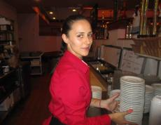Friendly server at Jimmy's Restaurant in Des Plaines