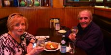 Couple enjoying lunch at Johnny's Kitchen & Tap in Glenview