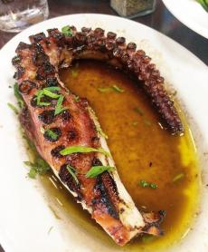 The Grilled Octopus at Kefi Greek Cuisine in Palos Heights
