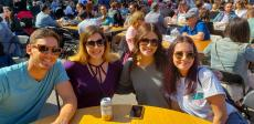 Friends enjoying the Lincoln Park Greek Fest at St. George in Chicago