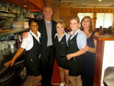 Friendly staff at Lumes Pancake House in Palos Heights