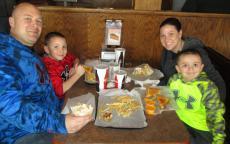 Family enjoying lunch at Billy Boy's Restaurant in Chicago Ridge
