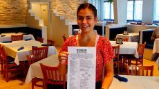 Friendly manager at Mykonos Greek Restaurant in Niles