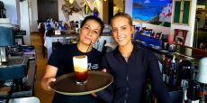 Friendly staff at Naxos, A Greek Island Restaurant in Itasca