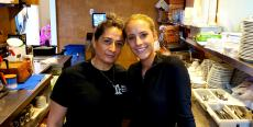 Friendly servers at Naxos, A Greek Island Restaurant in Itasca