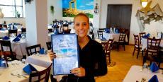 Friendly server at Naxos, A Greek Island Restaurant in Itasca