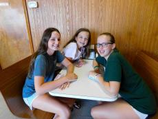 Friends meeting for lunch at Nick's Drive In Restaurant Chicago
