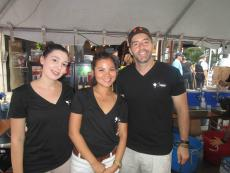 Friendly staff from 9 Muses Cafe at Taste of Greektown Chicago