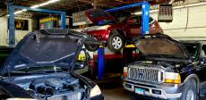 Busy repair shop at Oak Lawn Auto in Oak Lawn