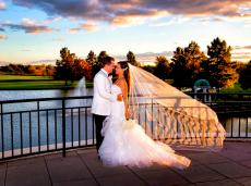 Romantic sunset at Odyssey Banquet Venue in Tinley Park