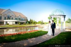 Beautiful outdoor setting at Odyssey Country Club in Tinley Park