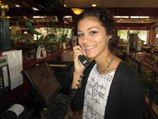 Friendly service at Omega Pancake House in Downers Grove