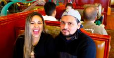 Couple enjoying breakfast at Omega Restaurant & Pancake House in Downers Grove