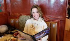 Customer enjoying lunch at Omega Restaurant & Pancake House in Downers Grove
