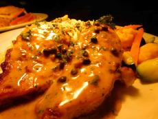 The famous Chicken Picatta at Palm Court Restaurant in Arlington Heights
