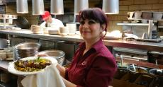 Serving the Beef Sirloin Kabob at Palm Court Restaurant in Arlington Heights