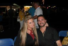 Couple enjoying The Palos Hills Greek Fest at Sts. Constantine & Helen