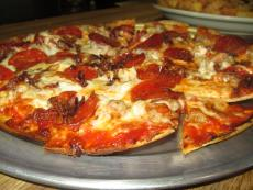 Award winning pizza at Pap's Ultimate Bar and Grill in Mt. Prospect