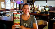 Friendly server at Pap's Ultimate Bar & Grill in Mount Prospect