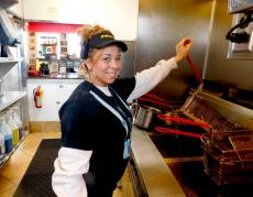Friendly staff at Photo's Hot Dogs in Palatine