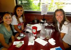 Friends enjoying lunch at Plainfield's Delight Restaurant in Plainfield