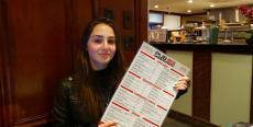 Friendly hostess at Pub 83 Pizza & Burgers in Long Grove