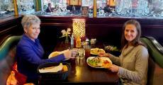 Friends enjoying lunch at Rose Garden Cafe in Elk Grove Village