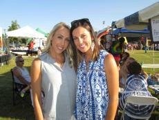 Friends enjoying the Lake County Greek Fest at St. Demetrios in Libertyville