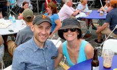 Couple enjoying the Lincoln Square Greek Fest at St. Demetrios Chicago