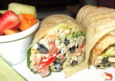 Sumptuous Southwest Wrap at Georgie V's Restaurant in Northbrook