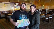 Couple enjoying lunch at Tasty Waffle Restaurant in Romeoville