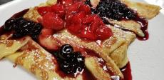 The famous Berry Crepes at Teddy's Diner in Elk Grove Village