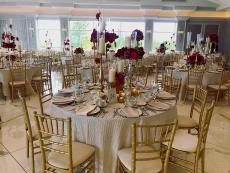 Beautifully designed ballroom at The Odyssey Country Club in Tinley Park