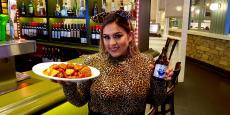 Friendly bar server at Yanni's Greek Restaurant in Glenview